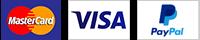 MasterCard Visa PayPal Accepted