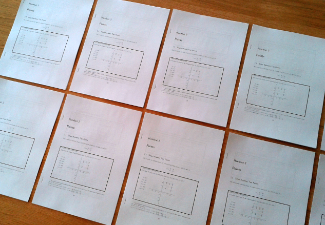 Picture of coordinate geometry handouts