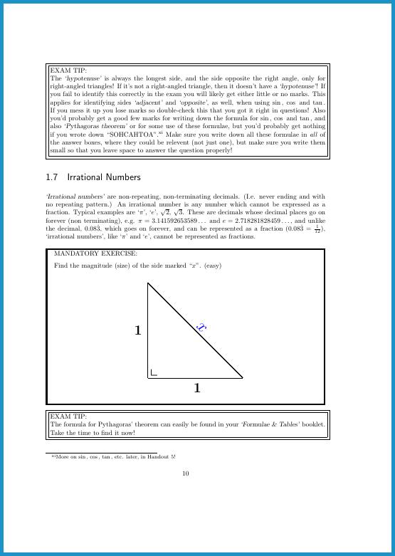 Page 10 Pythagoras theorem