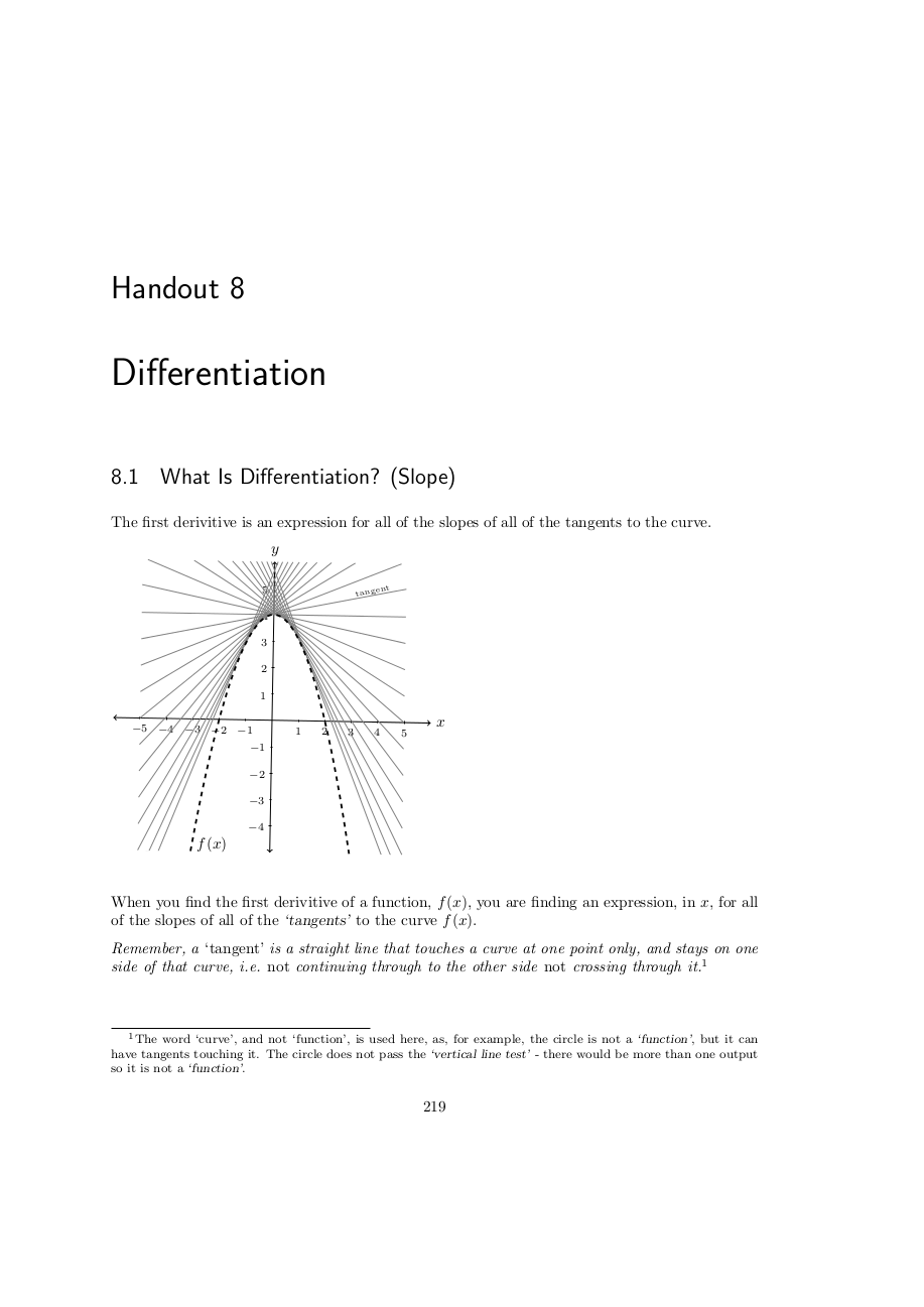 Page 219 Differential calculus