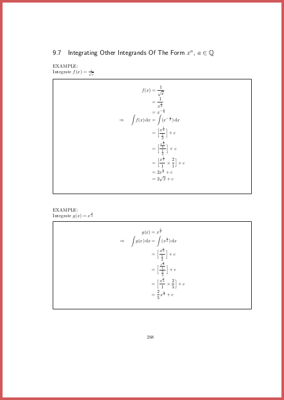 Page 268 Integral calculus