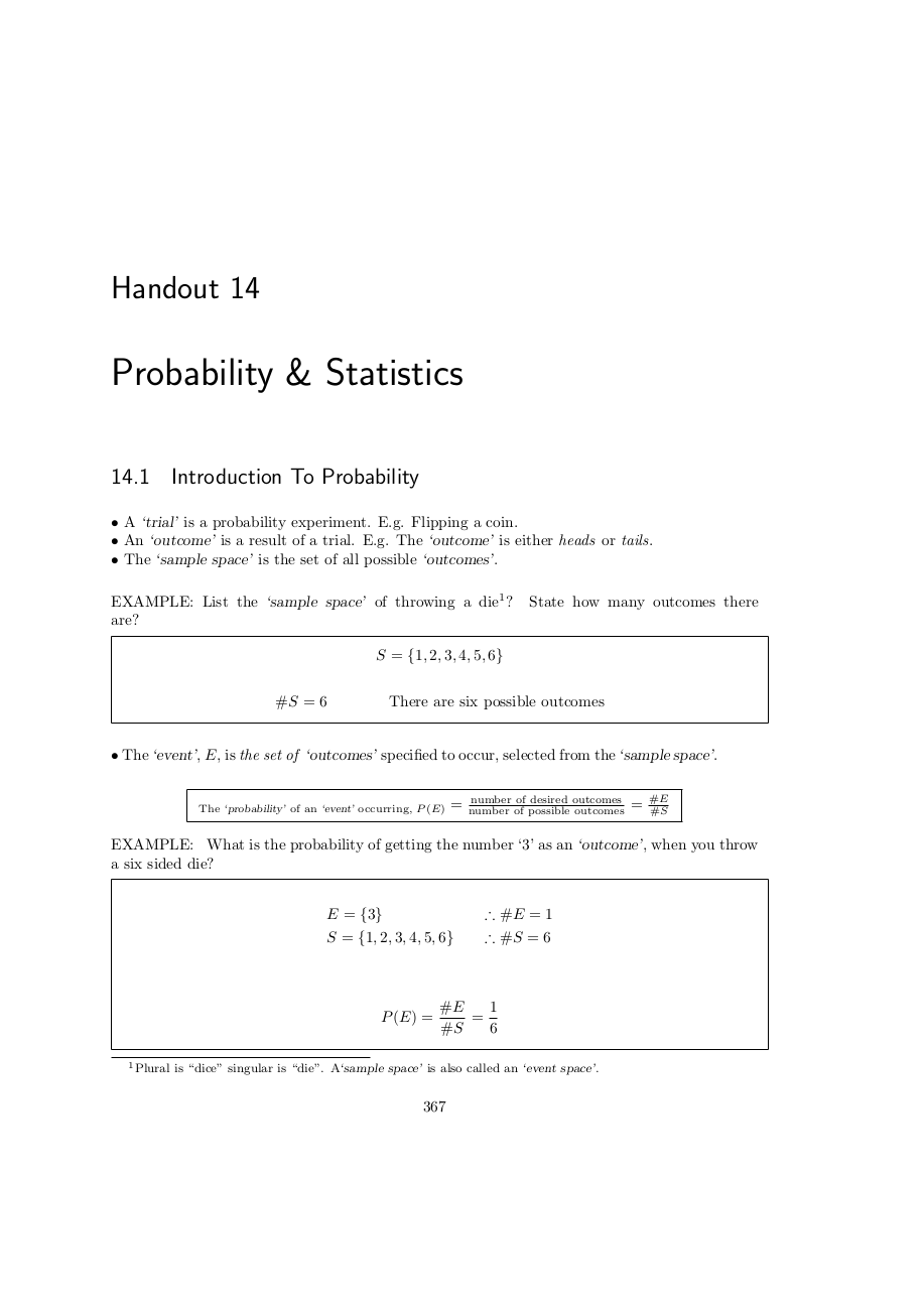 Page 367 Introduction to probability