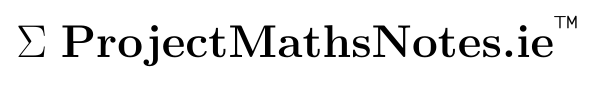 Project maths notes logo